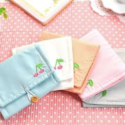 School Time - Linen Cotton Sanitary Pouch