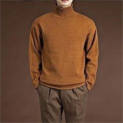 THE COVER - Colored Turtle-Neck Sweater