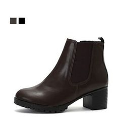 MODELSIS - Banded Chunky-Heel Ankle Boots