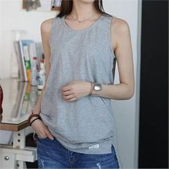 CHICFOX - Loose-Fit Long Tank Top