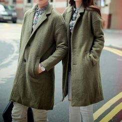 Bay Go Mall - Couple Matching Buttoned Coat