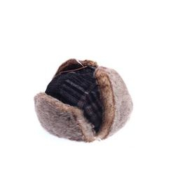 Ohkkage - Faux-Fur Ear-Flap Check Hat