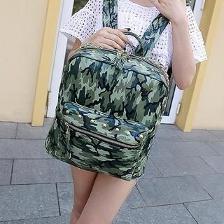 Miss Sweety - Studded Camouflage Backpack