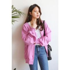 PPGIRL - V-Neck Cotton Cardigan