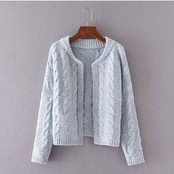 Blue Rose - Cable Knit Cardigan