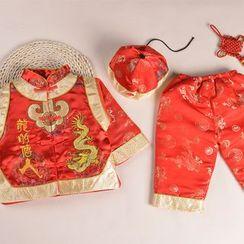 OnCloud - 兒童套裝: 刺繡外套 + 長褲