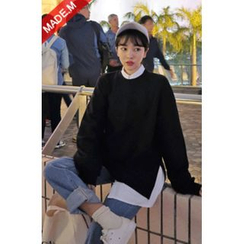 MICHYEORA - Slit-Side Colored Sweatshirt