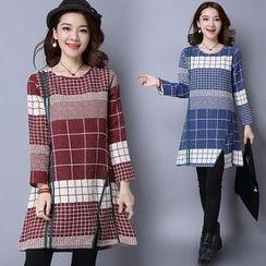 Yeeya - Check Long-Sleeve Tunic