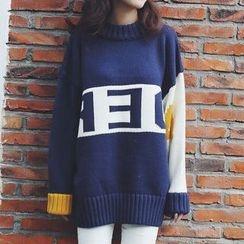 Rocho - Color Block Long Sweater