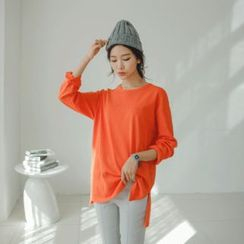 JUSTONE - Drop-Shoulder Dip-Back T-Shirt
