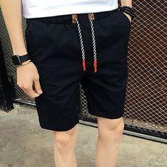 maxhomme - 純色抽繩短褲