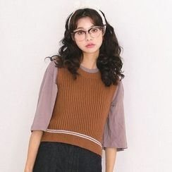 MIKPO - Ribbed Knit Vest