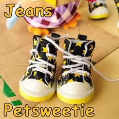 Pet Sweetie - Star Printed Lace Up Dog Sneakers