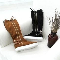 GLAM12 - Faux-Fur Lined Long Boots