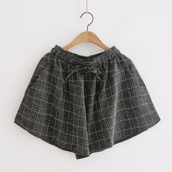 Piko - Window Pane Drawstring Shorts