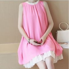 Gaia - Maternity Sleeveless Chiffon Dress