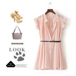 Ainvyi - Sleeveless Chiffon Shirt Dress
