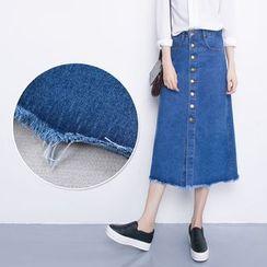 Oaksa - Denim Midi Skirt