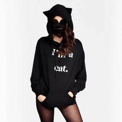 Rebecca - Letter Cat Ear Hoodie