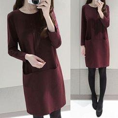 lilygirl - Long-Sleeve Woolen Dress
