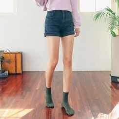 Seoul Fashion - Denim Washed Shorts