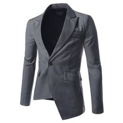 TheLees - Asymmetric-Hem One-Button Jacket