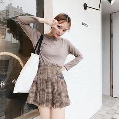 Tiny Times - Plaid Pleated Skirt