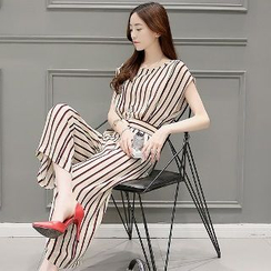 Romantica - Striped Jumpsuit