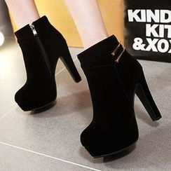 Gizmal Boots - Chunky Heel Ankle Boots