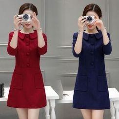 Sienne - Long-Sleeve A-Line Dress