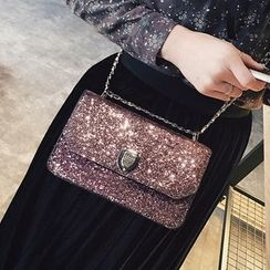 Youshine - Glittered Chain Strap Crossbody Bag