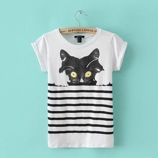 JVL - Short-Sleeve Striped T-Shirt