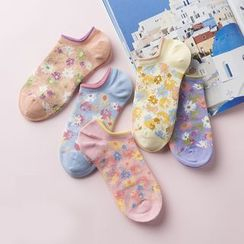 LA SHOP - Floral Print Socks