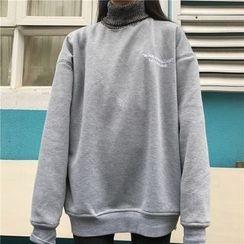 Cloud Nine - 樽領字母刺繡套衫