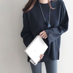 DAILY LOOK - Round-Neck Bell-Sleeve Top