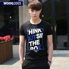 WOOG - Lettering Crewneck T-Shirt