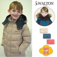 WALTON kids - Boys Detachable Hooded Padded Coat with Neck Warmer