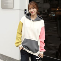 CLICK - Color-Block Hooded Pullover