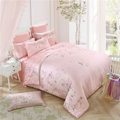 Petrie - Bedding Set: Floral Print Duvet Cover + Bed Sheet + Pillowcases