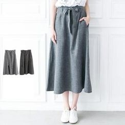 LULUS - Tie-Waist Long Skirt