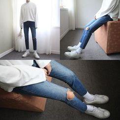 MPstudios - Distressed Slim-Fit Jeans