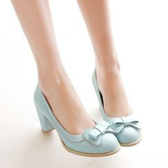 Pastel Pairs - Brogue Bow Pumps