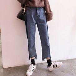 YUKISHU - Cropped Wide Leg Jeans
