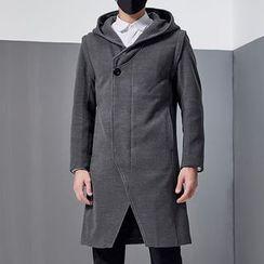2RZ - Side-Button Hooded Zip Coat