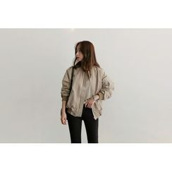 UPTOWNHOLIC - Zip-Detail Flight Jacket