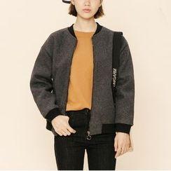 Heynew - Woolen Zip Jacket