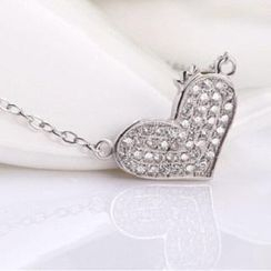 Zundiao - Sterling Silver Heart Necklace
