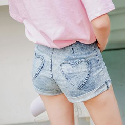 Deerie - Heart Pocket Denim Shorts