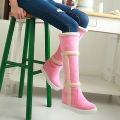 Pastel Pairs - Hidden Wedge Tall Snow Boots