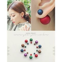 soo n soo - Double-Sided Ball Stud Earrings
